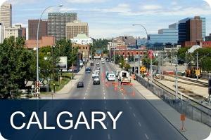 Calgary street downtown