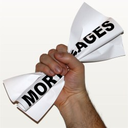 Mortgage papers in hands