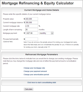 Mortgage Refinancing and Equity Calculator