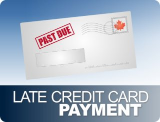 past due credit card payment