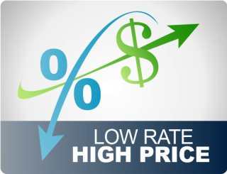 low rate high price